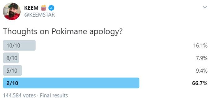 Keemstar tweet attacking Pokemane