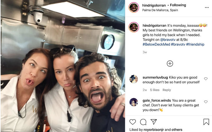 Kiko praises two best friends from Below Deck Med.