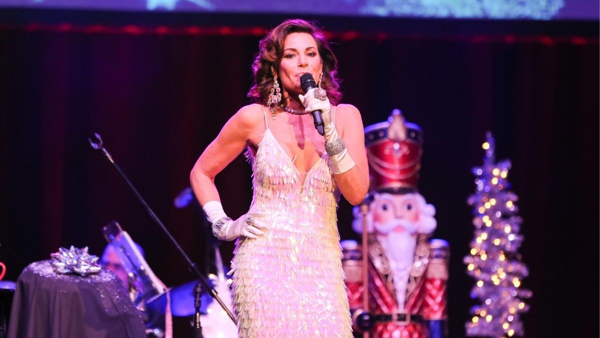 The Real Housewives of New York City's Luann de Lesseps singing during a cabaret performance