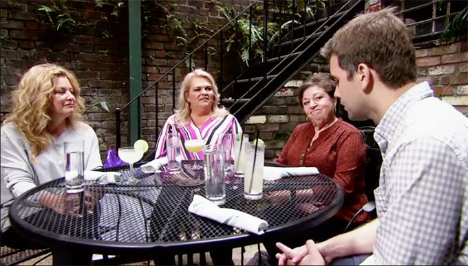 Married at First Sight's Henry sitting at lunch table with Christina's family