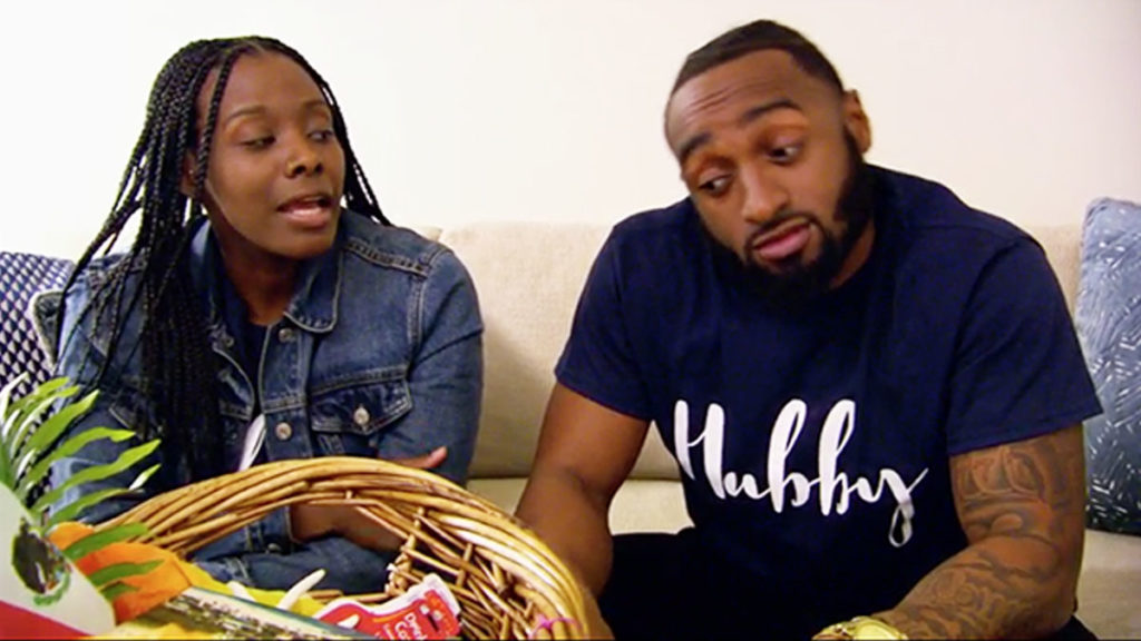 Married at First Sight couple Woody and Amani talking