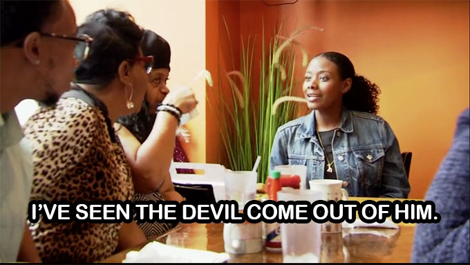 Married at First Sight Woody's mom tells Amani she has seen the devil come out of him