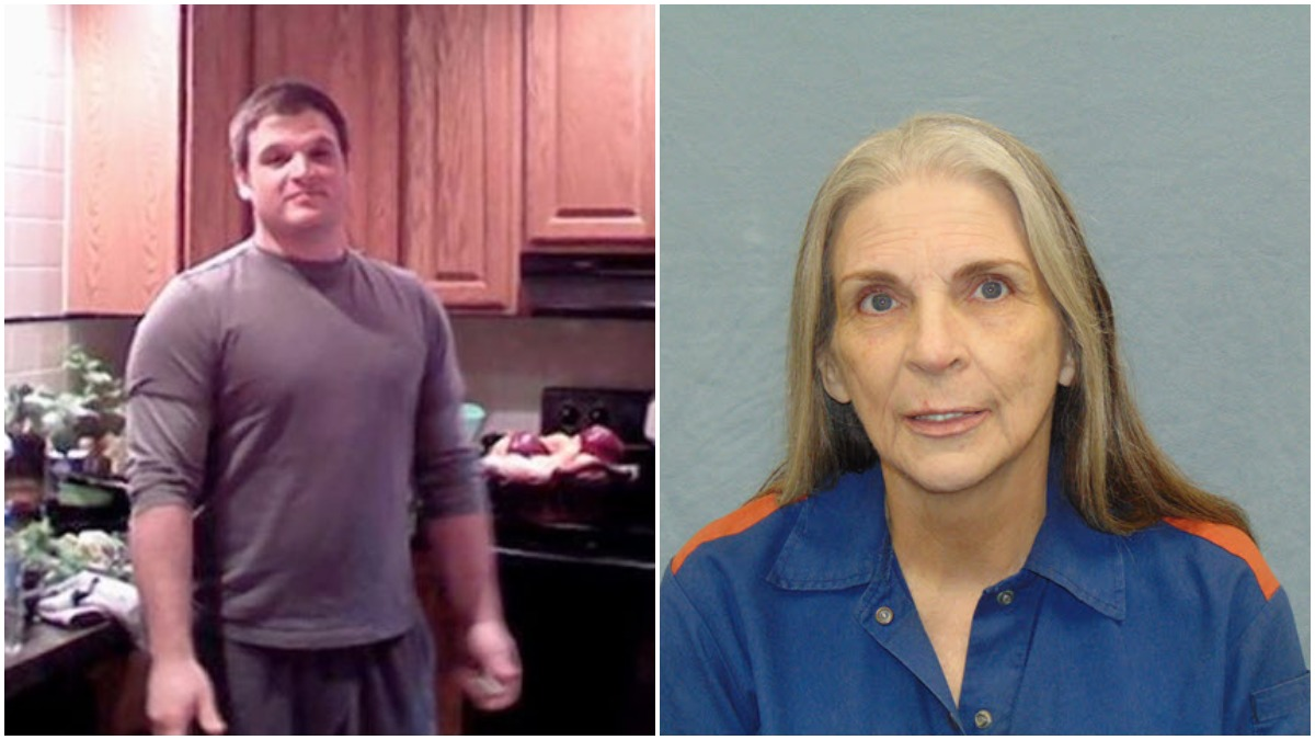 Family pic of Ramsay Scrivo and mugshot of Donna Scrivo