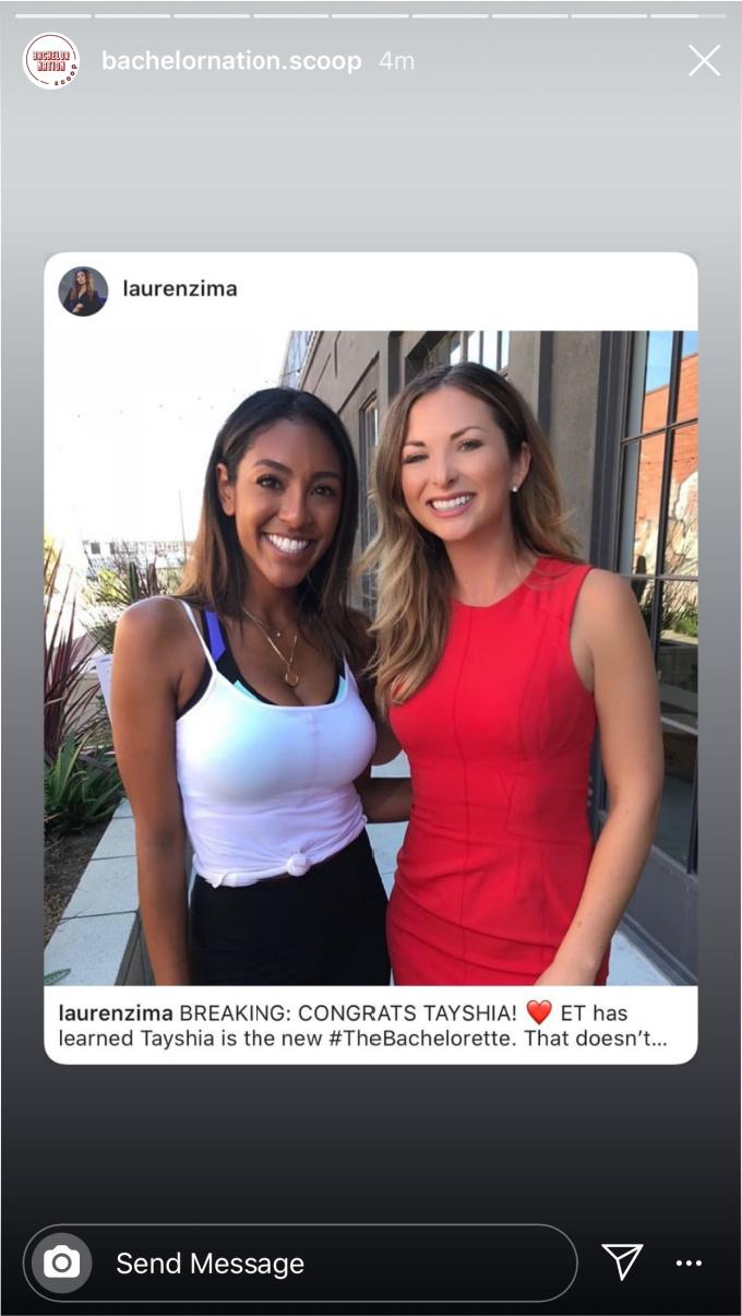 Tayshia confirmed