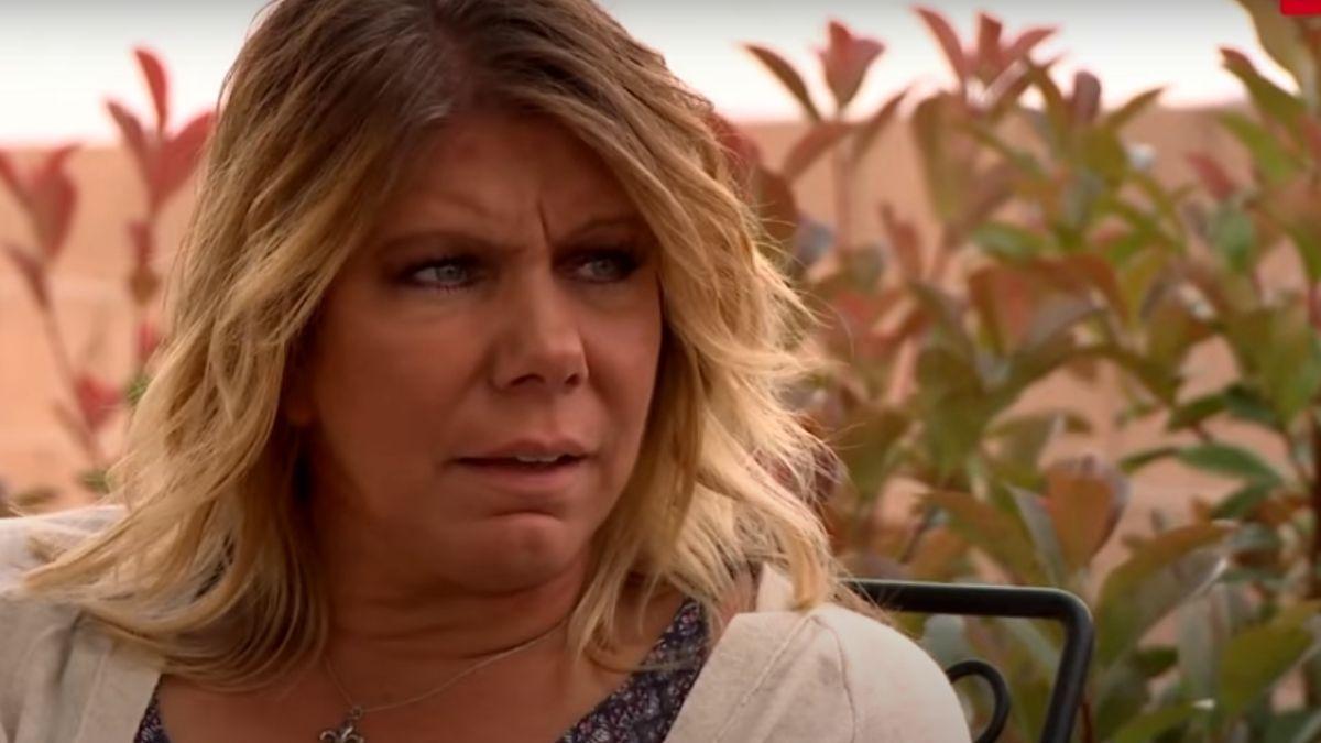Meri Brown looking upset while talking