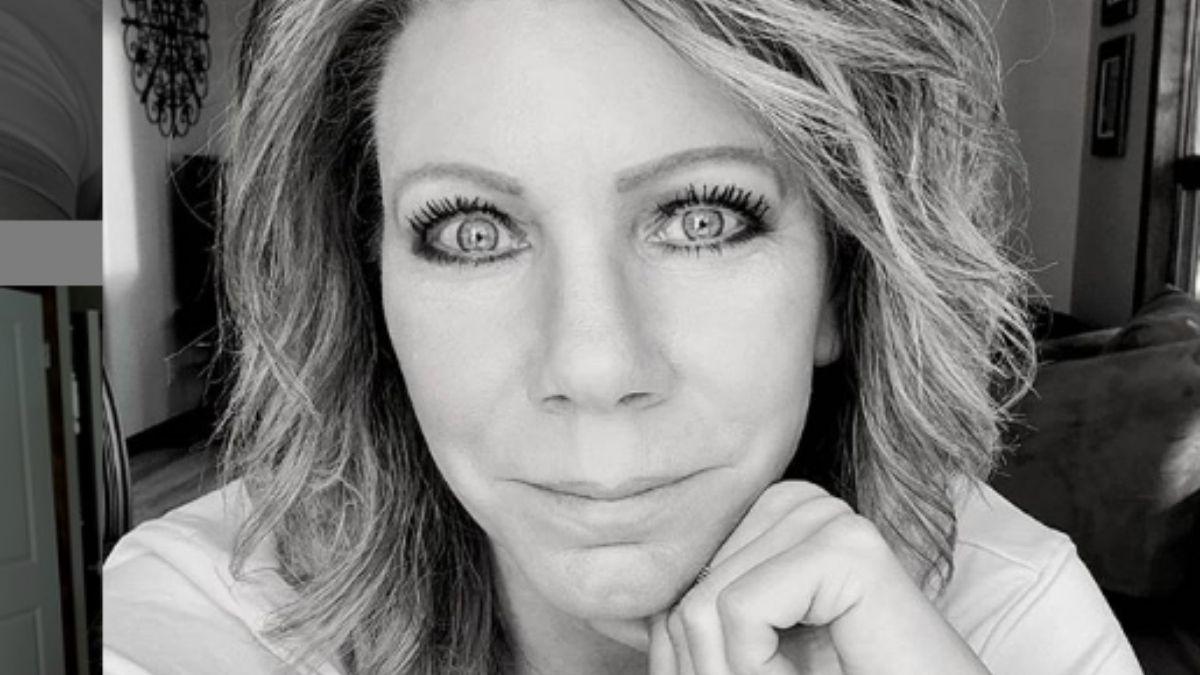 Black and white close up image of Meri Brown