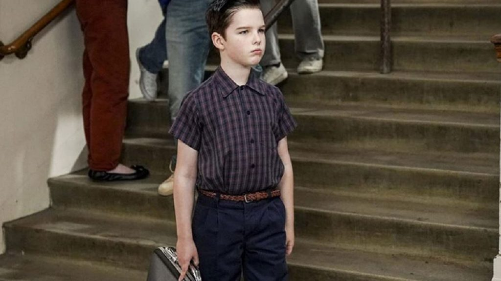 Young Sheldon goes to school