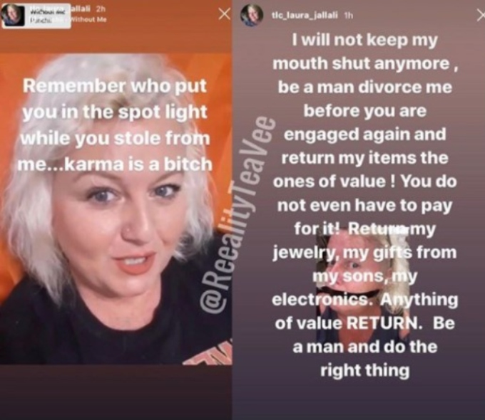 Laura Jallali upset that Aladin is engaged