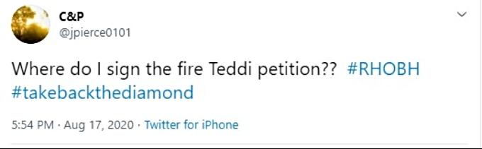 Fans want Teddi Mellencamp fired
