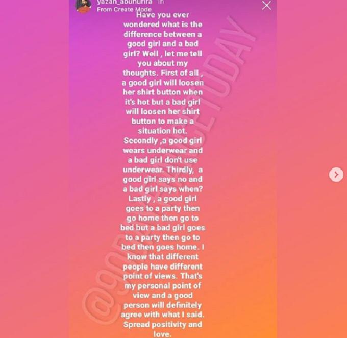 Instagram story from Yazan Abo Horira