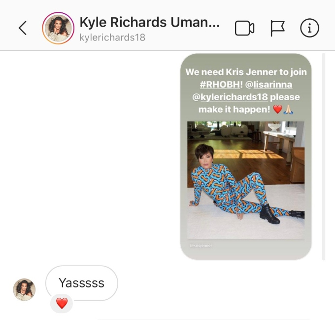 Kyle wants Kris Jenner on RHOBH