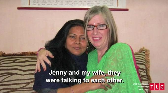 Jenny hugging Sumit's mom