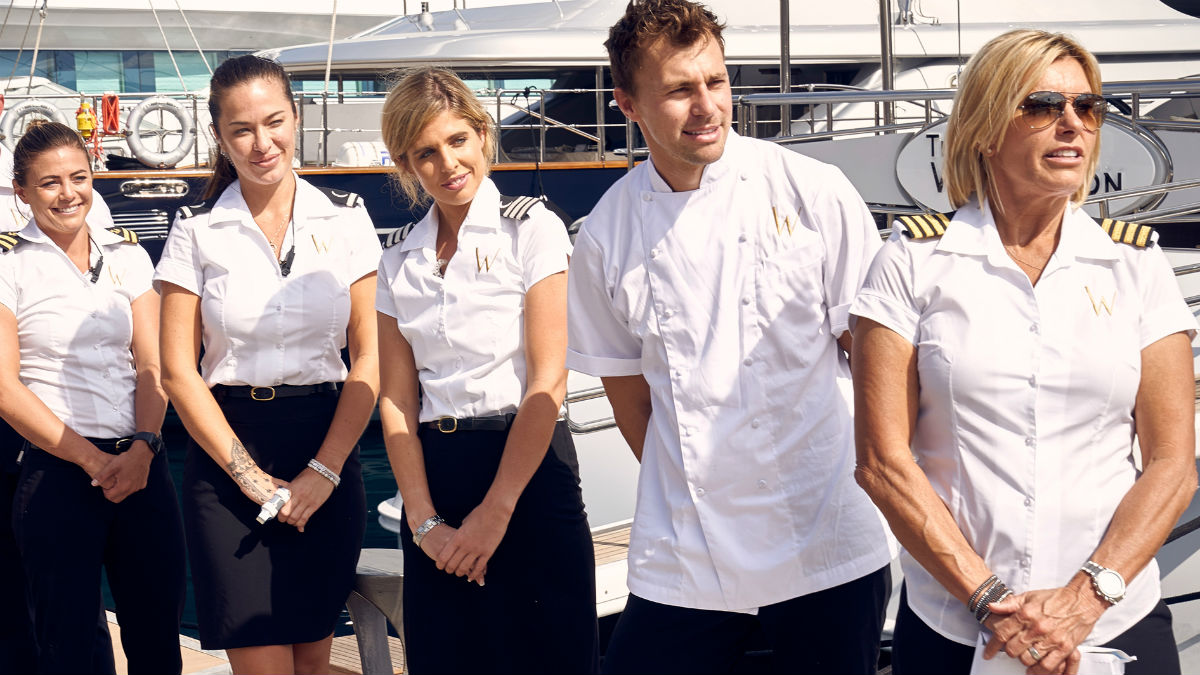 Below Deck Mediterranean cast and producers spill details on Michelle Damon Spanx fight.