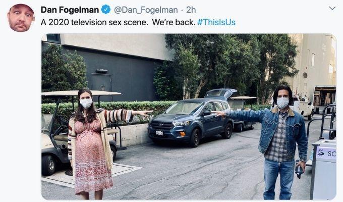 Dan Fogelman back at work Tweet