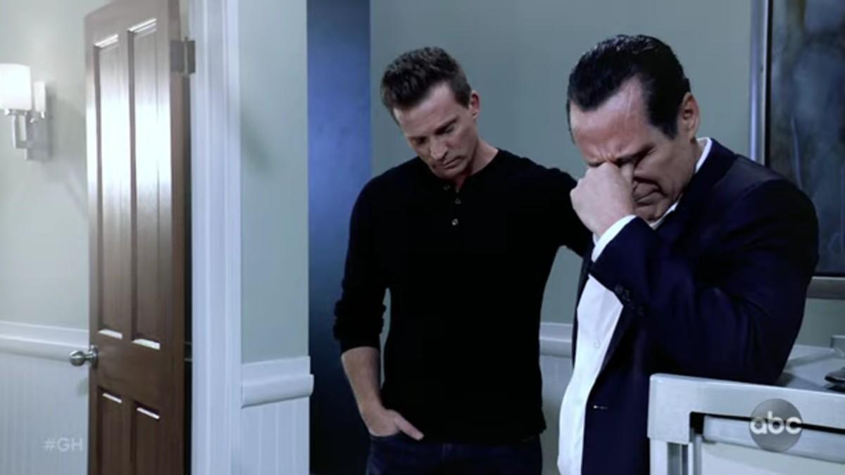 Steve Burton and Maurice Benard as Jason and Sonny on General Hospital.