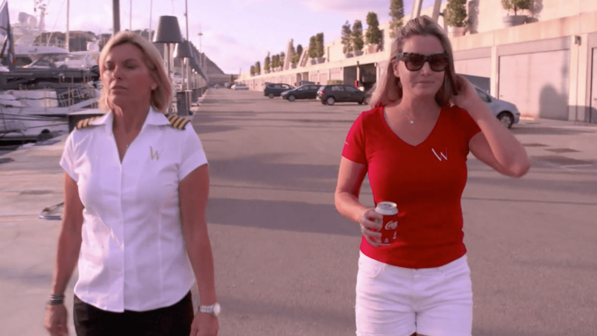 Captain Sandy Yawn dishes firing Hannah Ferrier and working with her again on Below Deck Mediterranean.