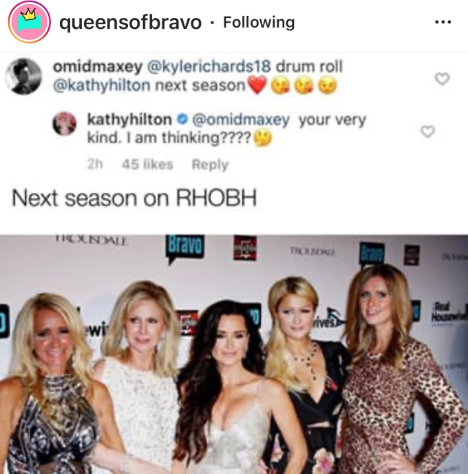 Will Kathy Hilton join RHOBH?