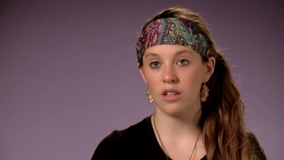 Jill Duggar during a 19 Kids and Counting confessional.