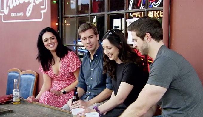 MAFS Season 11 couples Christina and Henry talking with Olivia and Brett