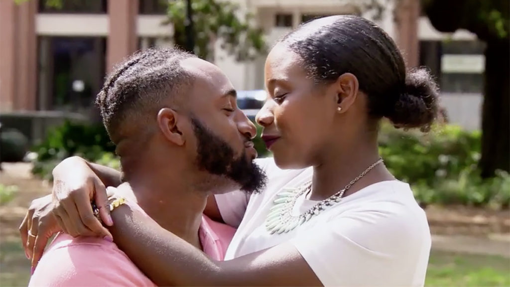 Married at First Sight Season 11 couple Woody and Amani kissing