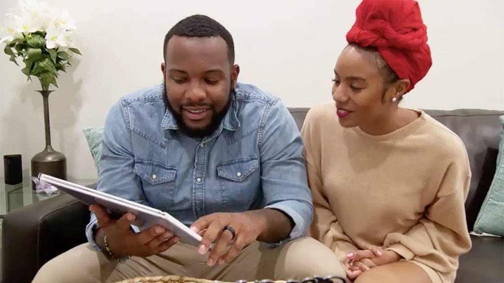 MAFS Season 11 couple Miles and Karen celebrate their one-month anniversary at home in tonight's Episode 12. Pic credit: Lifetime
