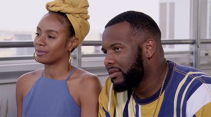 MAFS Season 11 couple Miles and Karen in color-coordinated outfits