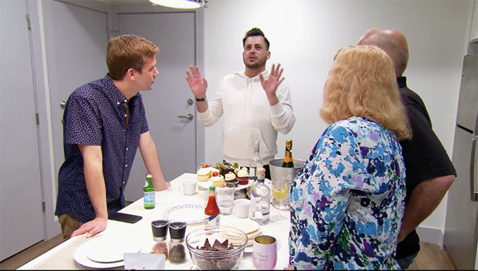 MAFS Season 11 couple Henry in kitchen with Christinas friends