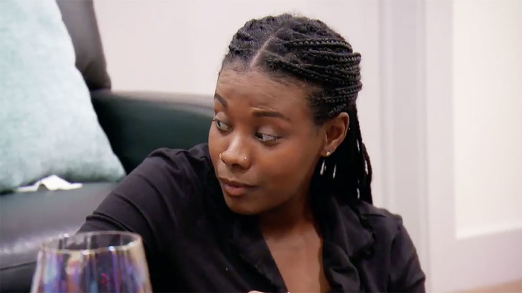 MAFS Season 11 Amani giving an inquisitive look