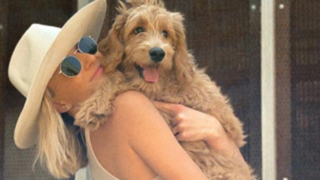 Nastia Liukin with her dog Harley