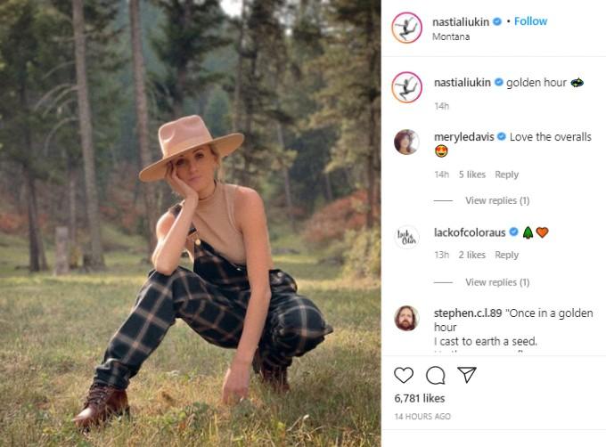 Nastia Liukin posts from Montana
