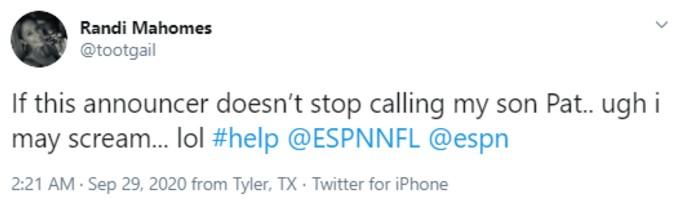 Martin's tweet defending her son