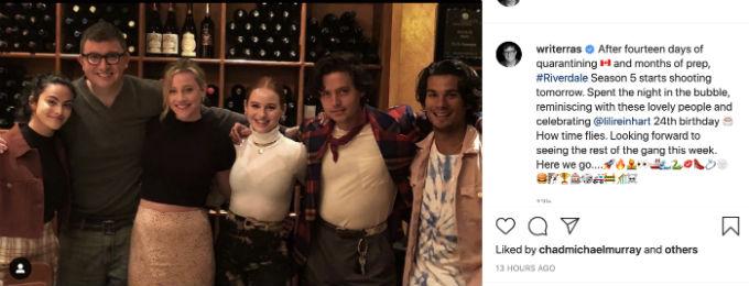 Riverdale cast and showrunner reunite.