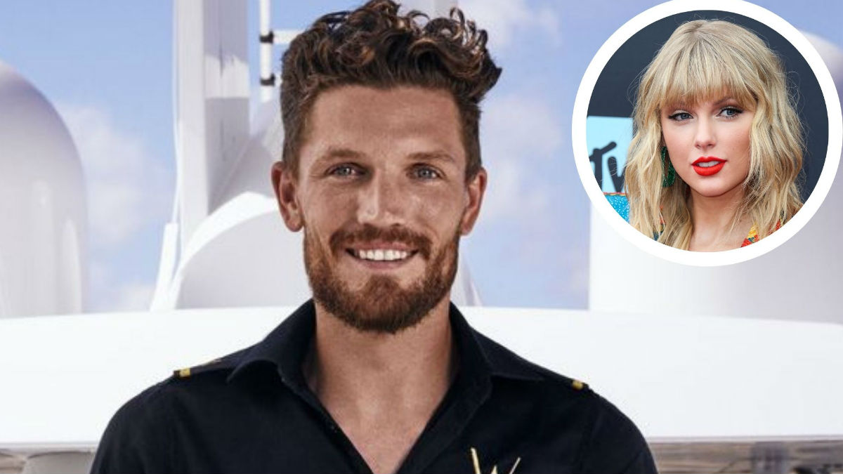 Rob from Below Deck Mediterranean dishes modeling with Taylor Swift.