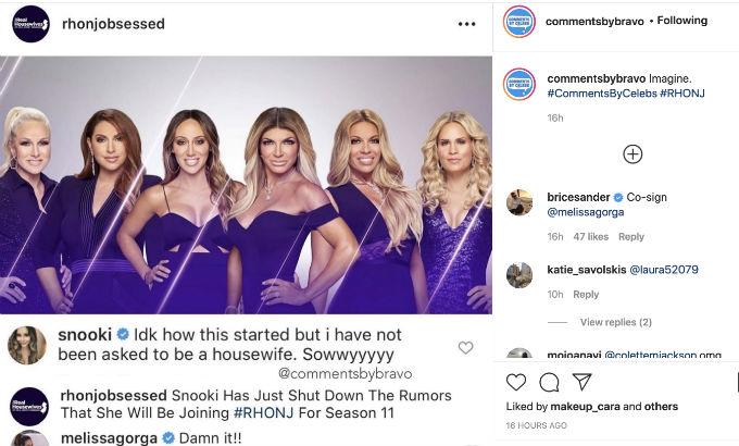 Snooki RHONJ Instagram response