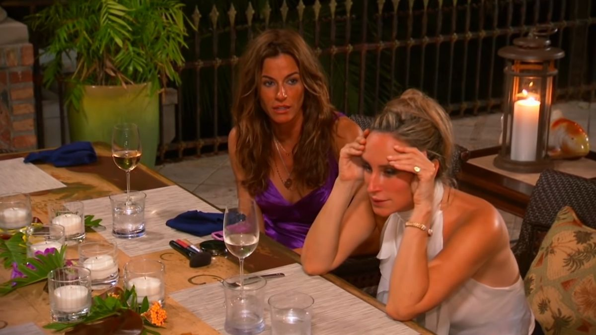 Kelly Bensimon goes berserk on scary island.