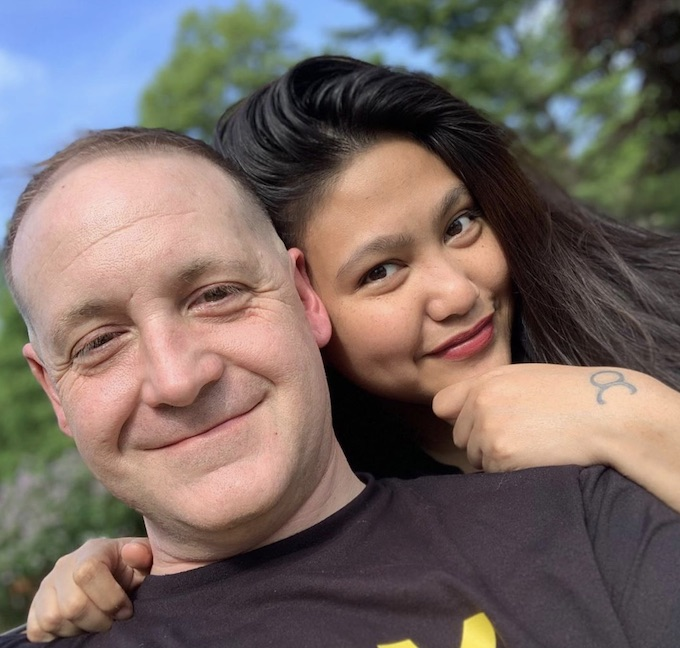 Leida Margaretha and her husband Eric Rosenbrook