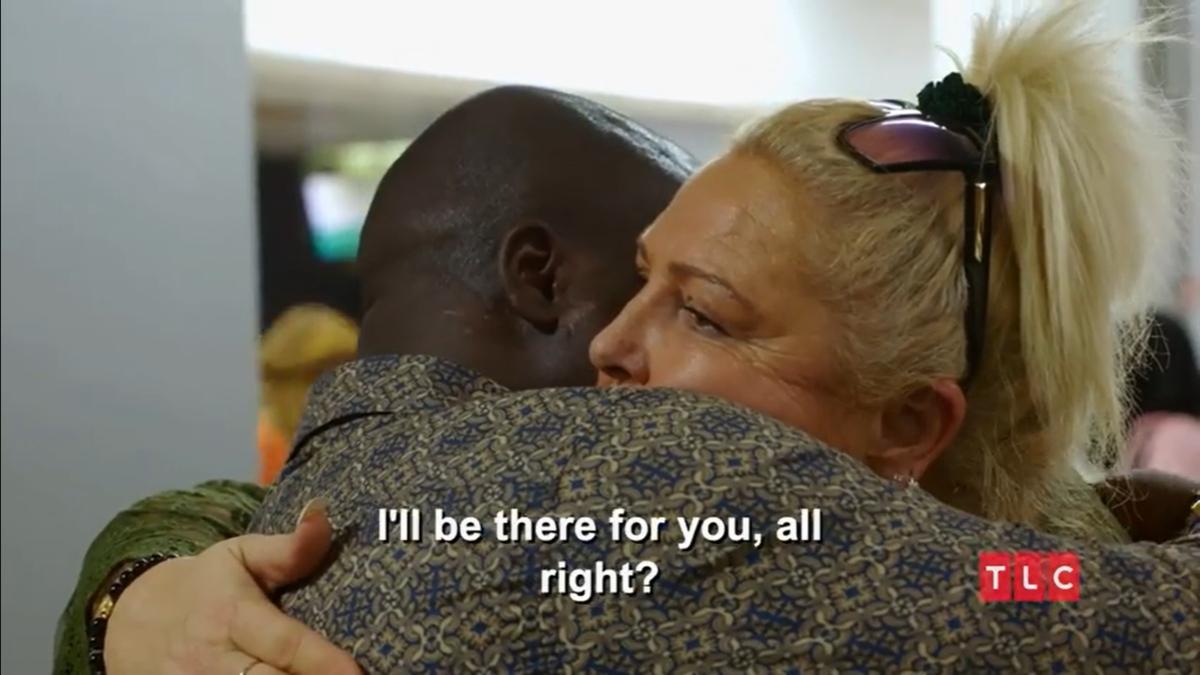 Michael Ilesanmi says goodbye to Angela Deem