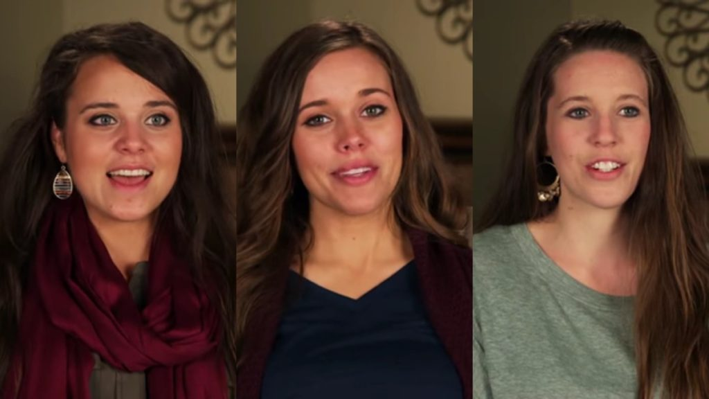 Jinger, Jessa, and Jill Duggar in Counting On confessionals.