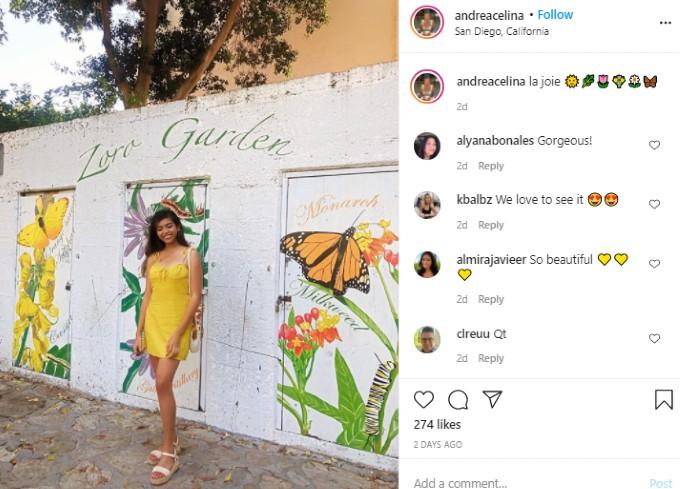 Andrea Celina on Instagram