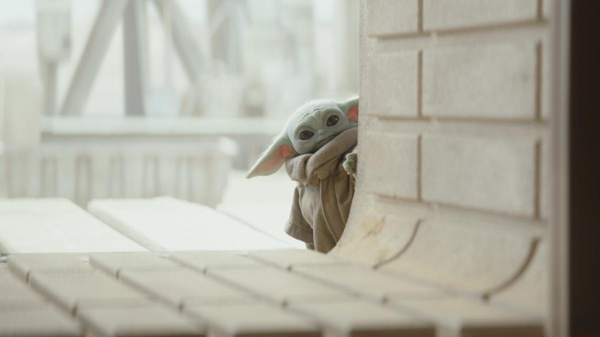 Baby Yoda doing Baby Yoda stuff.