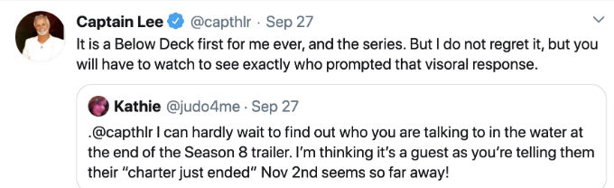 Captain Lee has a below Deck first in Season 8.