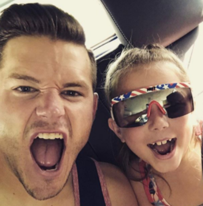 Cole DeBoer poses with step-daughter Aubree