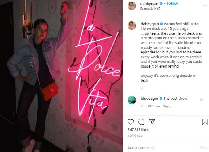Instagram post by Debby Ryan