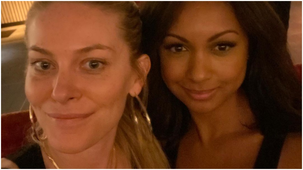 Eboni K Williams and Leah McSweeney pose for a selfie.