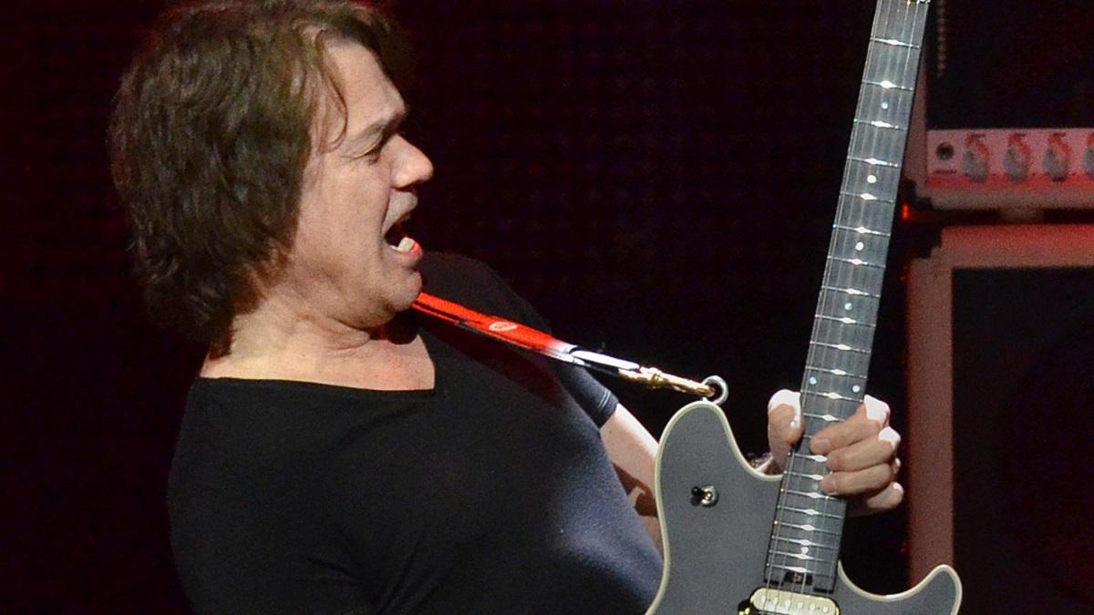Eddie Van Halen performs