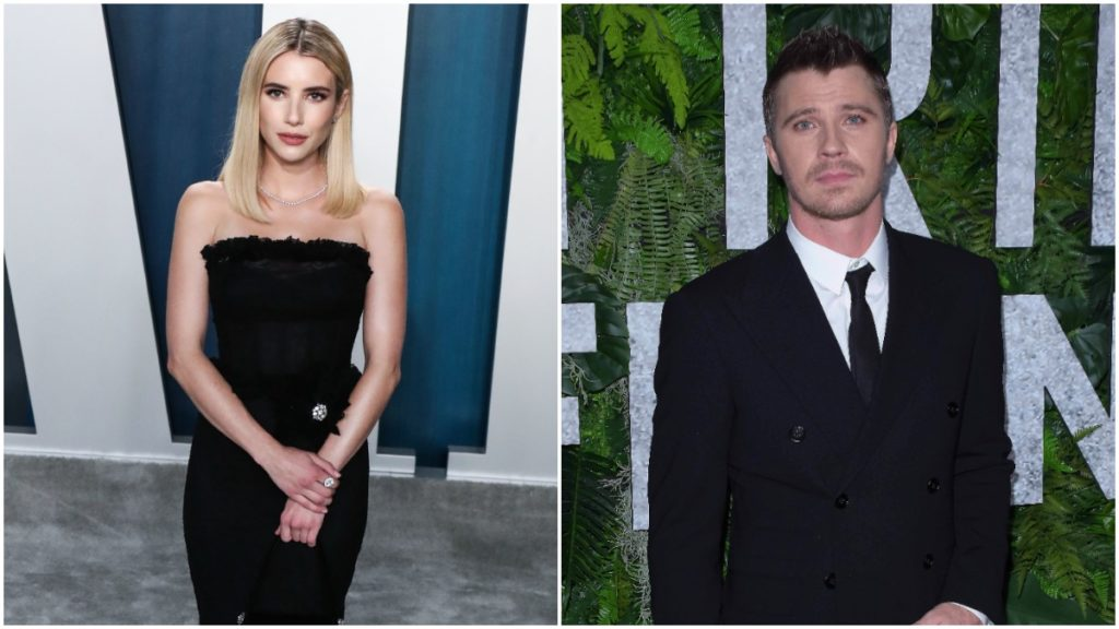 Emma Roberts and Garrett Hedlund on the red carpet