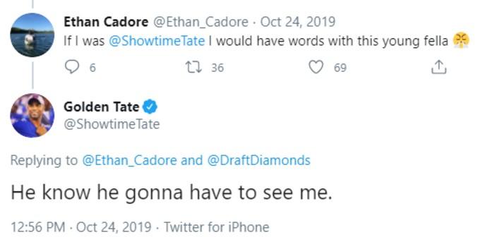 Golden Tate tweet trashing Ramsey