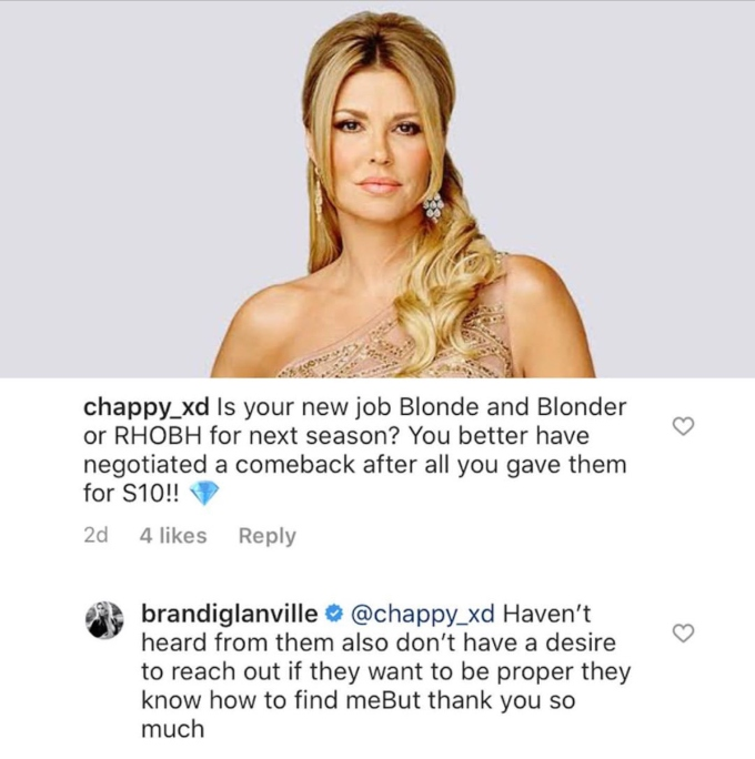 Brandi Glanville has not been asked back for Season 11