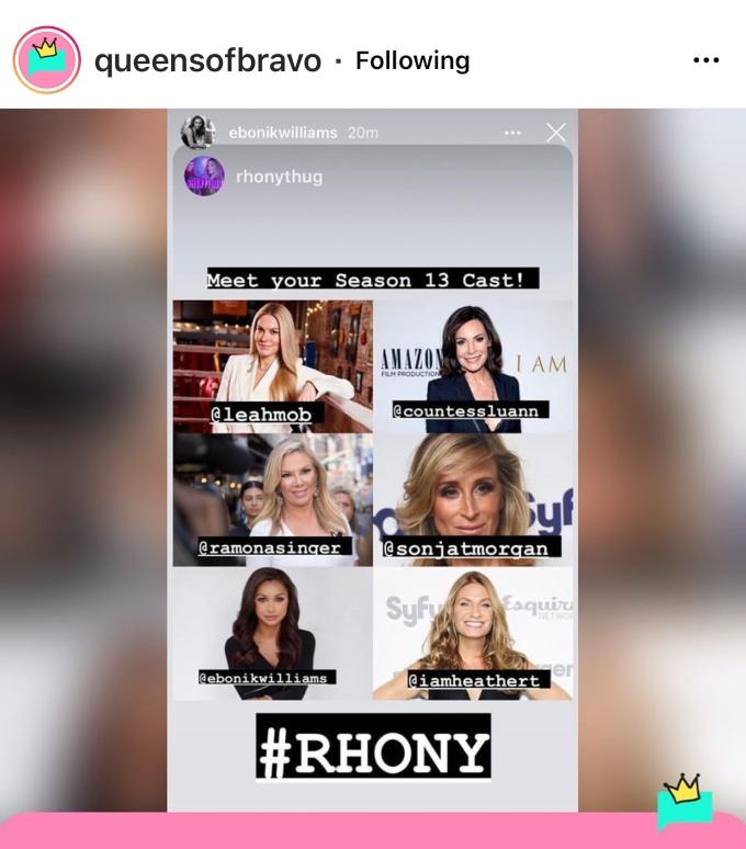 Newbie Eboni K. Williams confirms Heather Thomson's return to RHONY