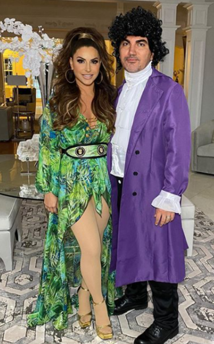 Jennifer and Bill Aydin of RHONJ dressed as J.Lo and Prince